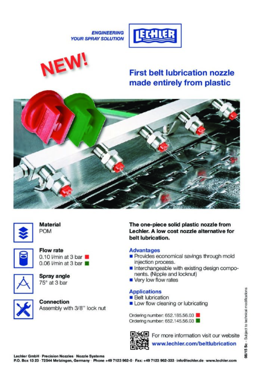 First Belt Lubrication Nozzle