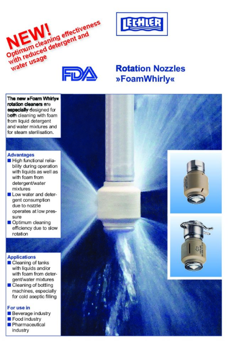 Rotation Nozzles Foam Whirly